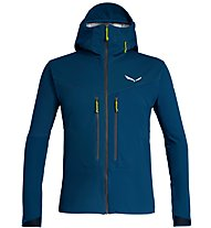 Salewa Ortles Windstopper - Softshelljacke mit Kapuze - Herren, Dark Blue/Green