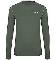 Salewa Pedroc Alpine Wool - Longsleeve - Herren, Dark Green
