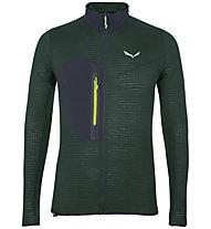 Salewa Pedroc Alpine Wool - felpa in pile - uomo, Dark Green/Black/Green