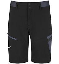 Salewa Pedroc Cargo 2 DST - pantaloni corti trekking - uomo, Black/Dark Grey