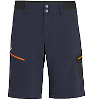 Salewa Pedroc Cargo 2 DST - pantaloni corti trekking - uomo, Dark Blue/Orange