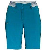 Salewa Pedroc Cargo 2 DST - pantaloni corti trekking - donna, Light Blue
