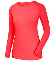 Salewa Pedroc Delta Dry W L/S Tee Damen Shirt lang, Red
