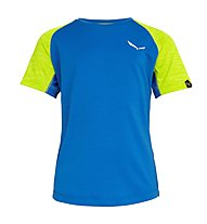 Salewa Pedroc Dry - T-shirt - bambino, Light Blue/Green