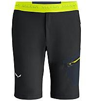 Salewa Pedroc DST - pantaloni corti - uomo, Black/Yellow