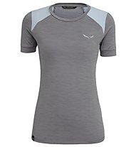 Salewa Pedroc Hybrid Dry - t-shirt sport di montagna - donna, Grey