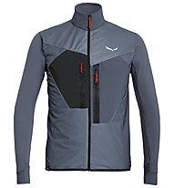 Salewa Pedroc Hybrid PTC Alpha - giacca ibrida trail running - uomo, Stone Grey