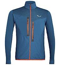 Salewa Pedroc Hybrid PTC Alpha - giacca ibrida trail running - uomo, Poseidon Blue