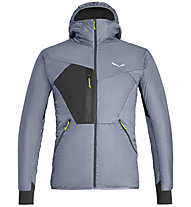 Salewa Pedroc Hybrid Twc M Hood - giacca ibrida - uomo, Grey/Black/Green