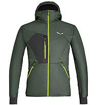 Salewa Pedroc Hybrid Twc M Hood - giacca ibrida - uomo, Dark Green/Black/Green