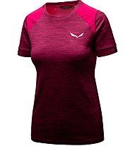 Salewa Pedroc Hybrid - T-Shirt Kurzarm - Damen, Pink