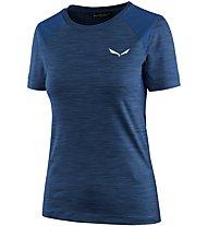 Salewa Pedroc Hybrid - T-Shirt Kurzarm - Damen, Blue