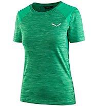 Salewa Pedroc Hybrid - T-Shirt Kurzarm - Damen, Green