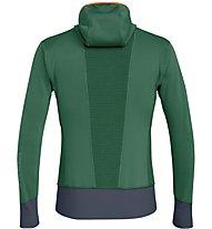 Salewa Pedroc Pgd - giacca in pile con cappuccio - uomo, Green/Red