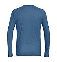 Salewa Pedroc Print Dry - maglia a manica lunga - uomo, Blue