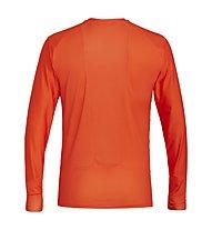 Salewa Pedroc Print Dry - Langarm-Shirt mit Reißverschluss - Herren, Orange