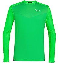 Salewa Pedroc Print Dry - Langarm-Shirt mit Reißverschluss - Herren, Green