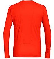 Salewa Pedroc Print Dry - Langarm-Shirt mit Reißverschluss - Herren, Orange/Red