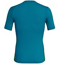 Salewa Pedroc Print Dry - T-shirt trekking - uomo, Blue/Green