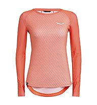 Salewa Pedroc Print Dry - Langarm-Shirt Bergsport - Damen, Orange