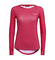 Salewa Pedroc Print Dry - Langarm-Shirt Bergsport - Damen, Red
