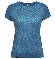 Salewa Pedroc Print Dry - T-Shirt sport di montagna - donna, Blue