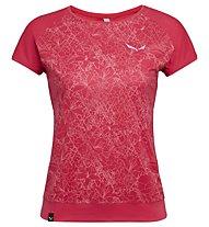 Salewa Pedroc Print Dry - T-Shirt sport di montagna - donna, Red