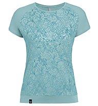 Salewa Pedroc Print Dry - T-Shirt Bergsport - Damen, Light blue