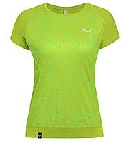 Salewa Pedroc Print Dry - T-Shirt Bergsport - Damen, Light Green