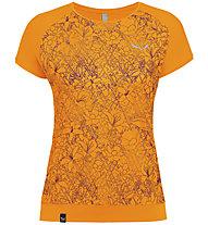 Salewa Pedroc Print Dry - T-Shirt Bergsport - Damen, Orange
