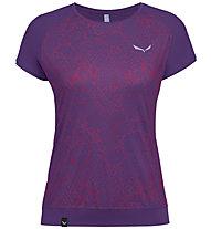 Salewa Pedroc Print Dry - T-Shirt Bergsport - Damen, Violet
