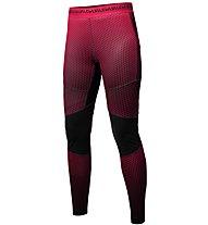 Salewa Pedroc Print Dry - pantaloni lunghi trail running - donna, Red
