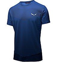 Salewa Pedroc Printed - T-shirt trekking - uomo, Blue
