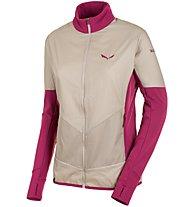Salewa Pedroc PTC Alpha - giacca in pile trekking - donna, Beige/Pink