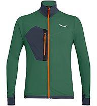 Salewa Pedroc PTC - giacca in pile - uomo, Green/Red