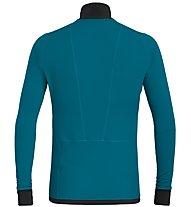 Salewa Pedroc PTC - giacca in pile - uomo, Blue/Yellow