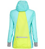 Salewa Pedroc Wind - giacca a vento - donna, Light Blue/Yellow