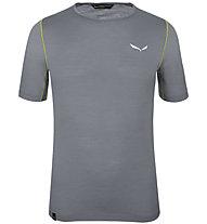 Salewa Pedroc Wool - Trekking T-Shirt - Herren, Grey/Green