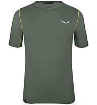 Salewa Pedroc Wool - Trekking T-Shirt - Herren, Dark Green/Green