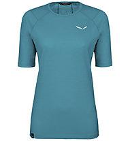 Salewa Pedroc Wool - T-Shirt Trekking - Damen, Light Blue