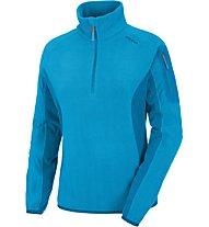 Salewa Plose 2 - Fleecepullover mit Reißverschluss - Damen, Light Blue