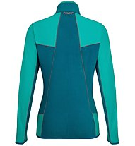 Salewa Plose 5 Pl - Fleecejacke Wandern - Damen, Green/Blue