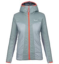 Salewa Puez 2 Awp - wattierte Kapuzenjacke - Damen, Grey/Orange