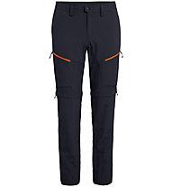 Salewa Puez 2 DRY - pantaloni zip-off trekking - uomo, Dark Blue/Red