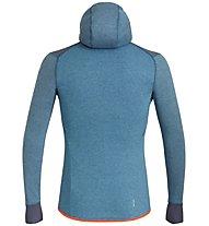 Salewa Puez 2 Dry M L/S Hood Full Zip - giacca in pile con cappuccio - uomo, Blue