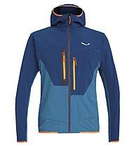 Salewa Puez 2 Durastretch - giacca softshell con cappuccio - uomo, Blue