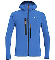 Salewa Puez 2 Durastretch - giacca softshell con cappuccio - uomo, Light Blue/Black/Orange