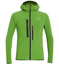 Salewa Puez 2 Durastretch - giacca softshell con cappuccio - uomo, Green/Black/Orange
