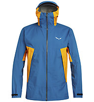 Salewa Puez 2 PTX 3L - giacca hardshell - uomo, Light Blue/Orange