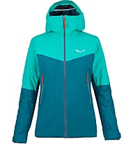 Salewa Puez 2 Ptx/Twc - Hardshelljacke mit Kapuze - Damen, Light Blue/Green
